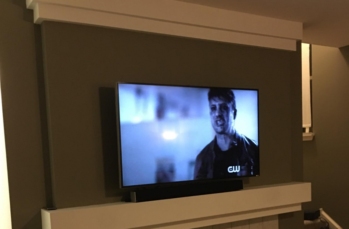 Tv Installation On Wall Drywall Repair Painting
