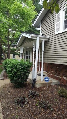 Porch Column Gutter Amp Downspout Replacement