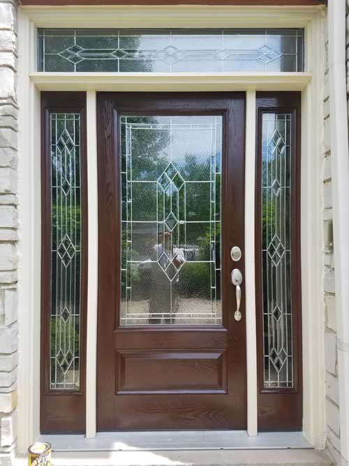 Front Door Refinish Naperville Drywall Repair Painting