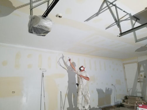 Riverside Garage Re Tape Paint Drywall Repair Painting
