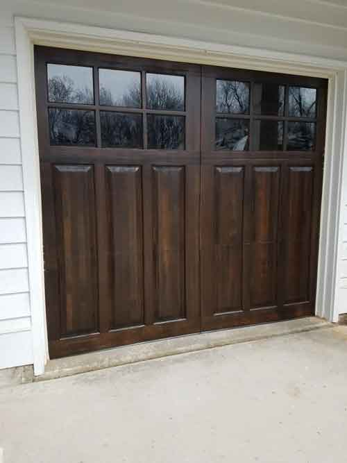 Refinished Garage Doors in Glen Ellyn