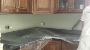 before kitchen backsplash