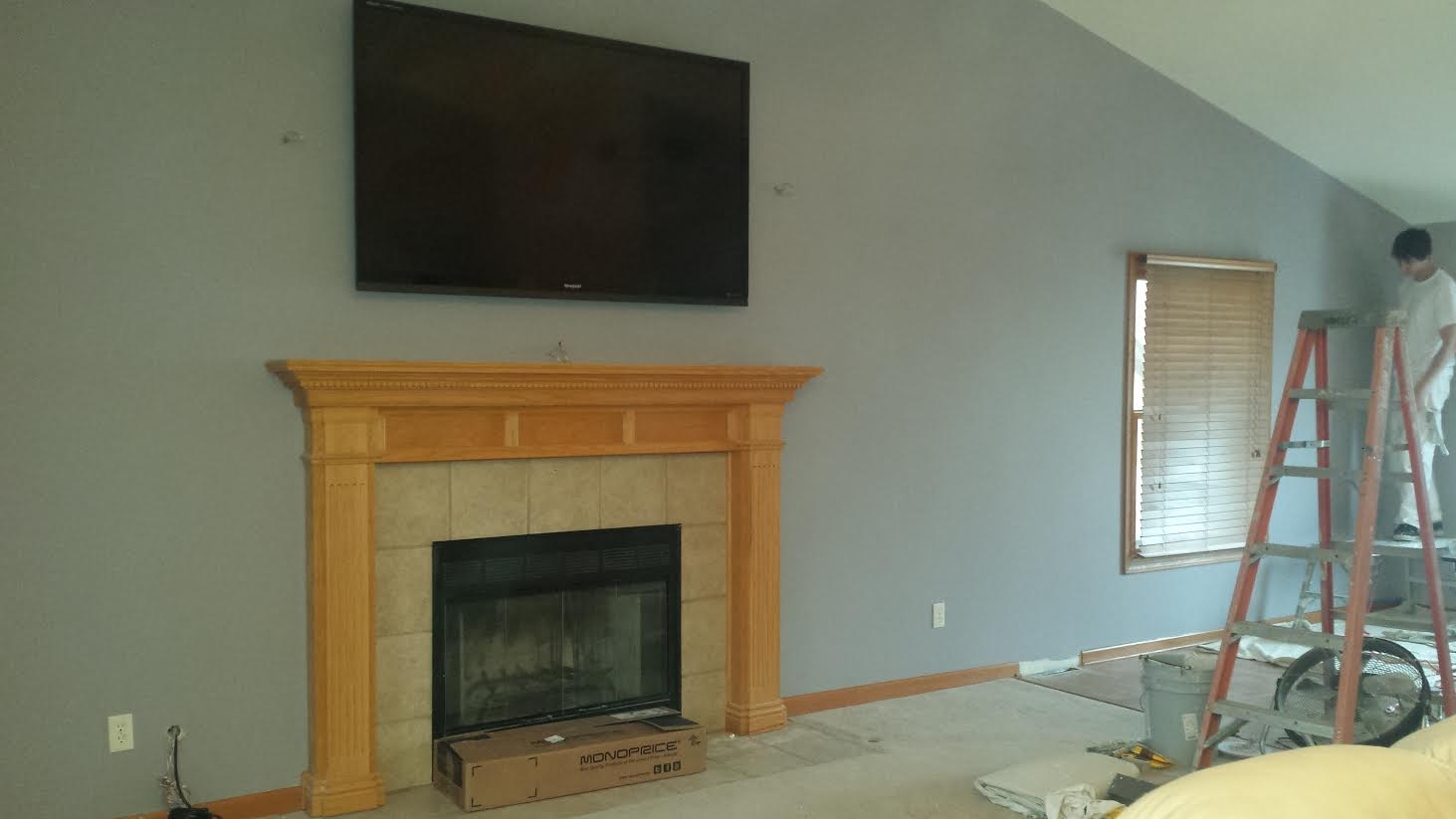 Tv Installation Over Fireplace Sandwich Il Drywall