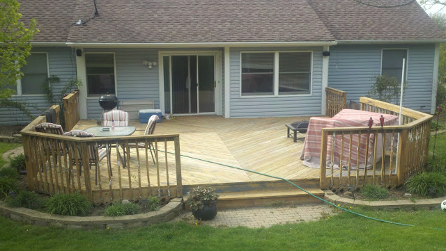 Refinished Deck In Montgomery Il Drywall Repair