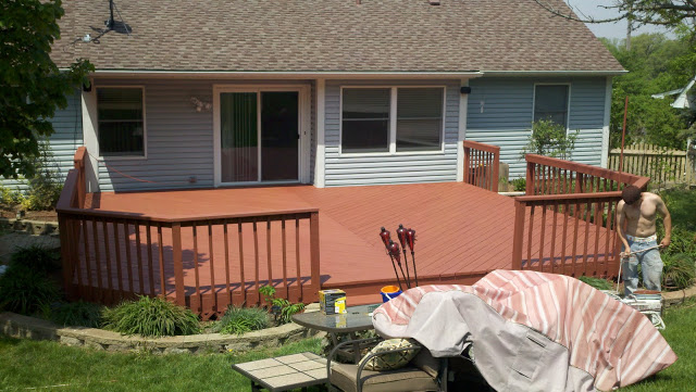 Refinished Deck in Montgomery, IL