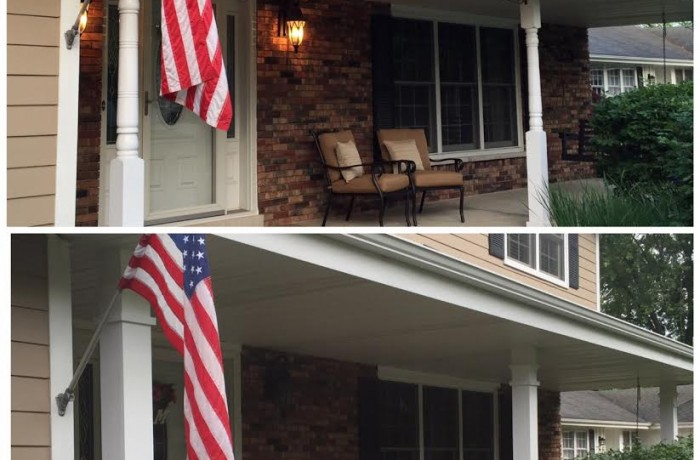 New Front Porch Pillars