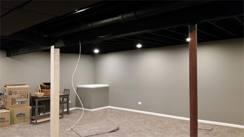 Basement Remodel Oswego Il Drywall Repair Painting