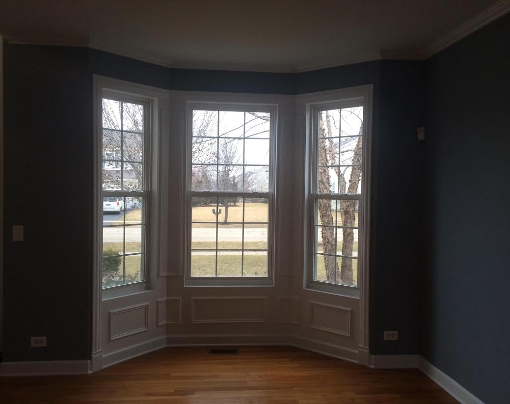 Bay Window In Bolingbrook Drywall Repair Painting