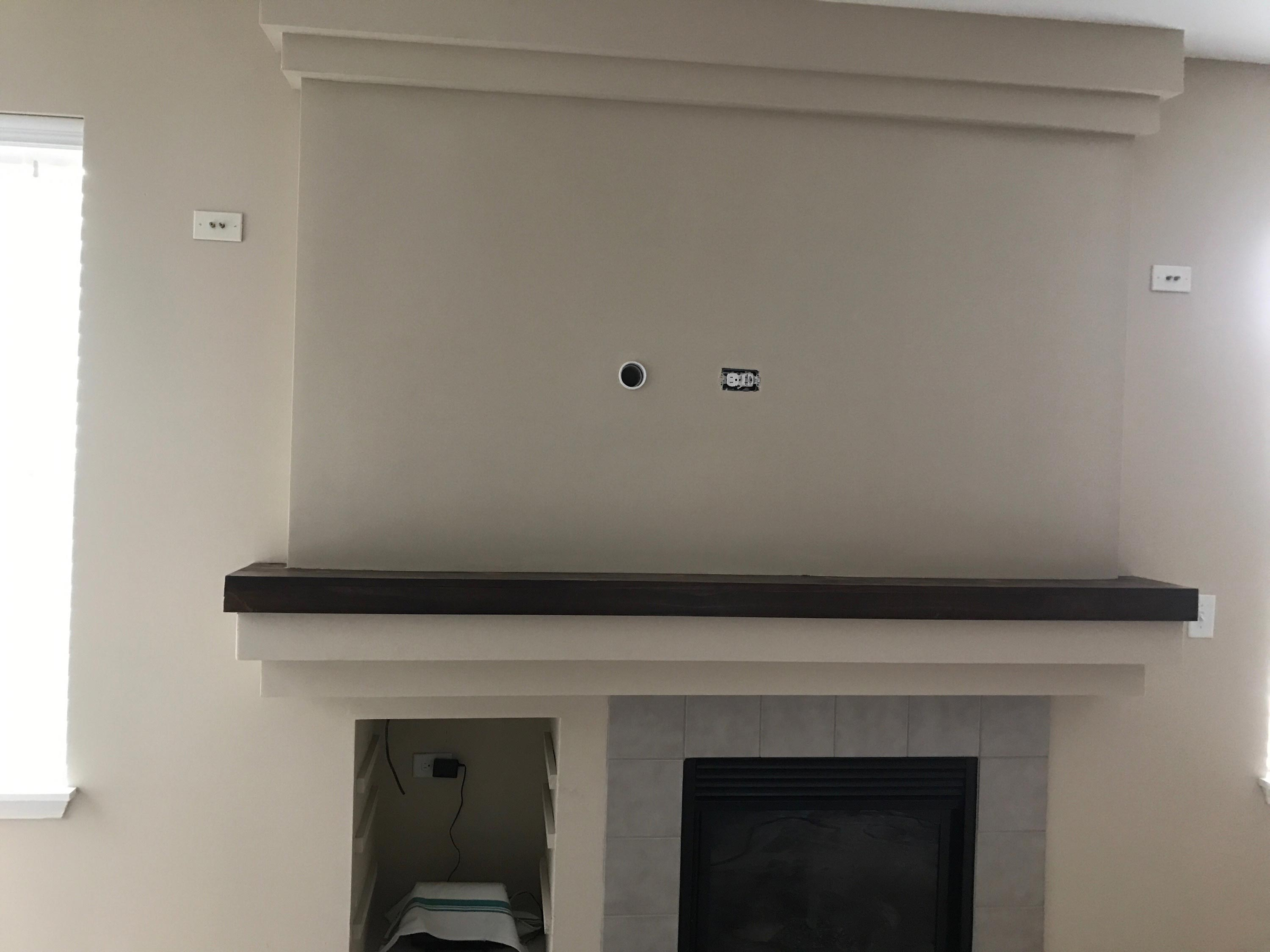 Wall Mounted Tv From Cubby Aurora Il Drywall Repair
