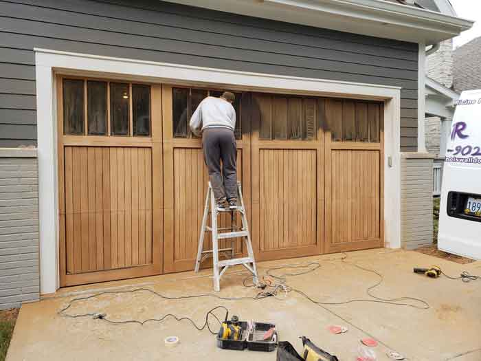 Refinish Garage Door Drywall Repair Painting