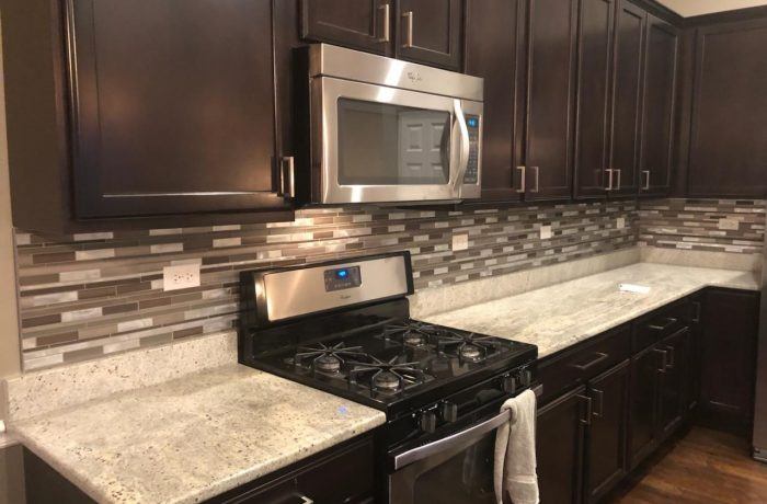 Glass Tile Backsplash Install Naperville