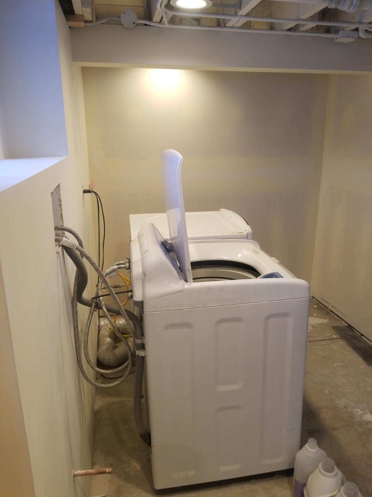 New Laundry Room In Basement Wheaton Drywall Repair Painting Amp Remodeling Naperville