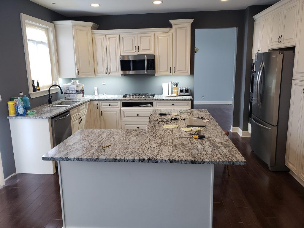 Plainfield Kitchen Remodel Drywall Repair Painting